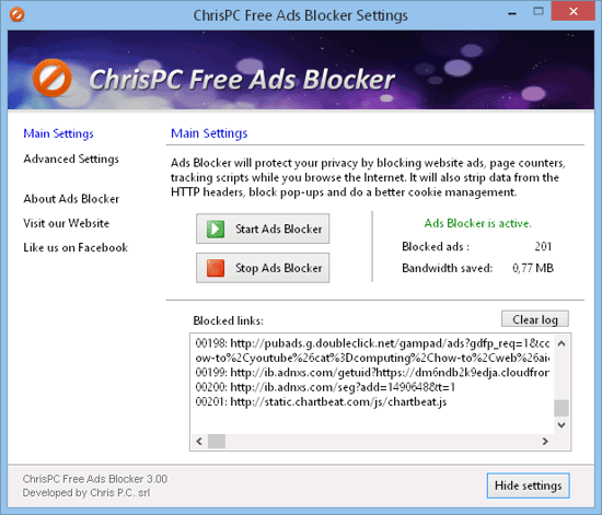 ChrisPC Free Ads Blocker