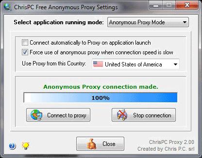 تحميل برنامج ChrisPC Free Anonymous Proxy 4.0 لانشاء عنوان بروكسى وخادم مجهول بسهولة مجانى