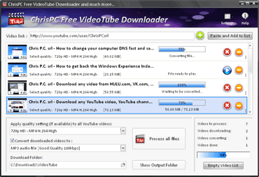 ChrisPC Free VideoTube YouTube Downloader Converter
