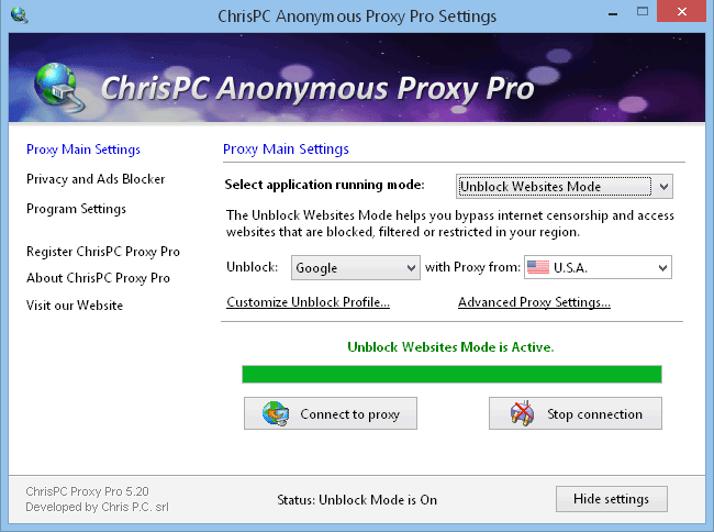 ChrisPC Free Anonymous Proxy Software FREE Download - Enjoy your